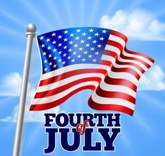 Fourth of July Independence Day Flag Design Stock Illustration