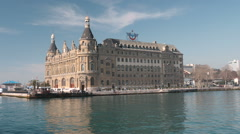 Haydarpasa from the sea hd Stock Footage