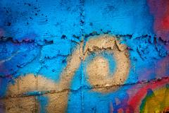 Painted wall background - stock photo