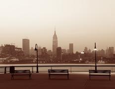 New York City silhouette Kuvituskuvat