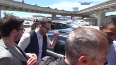 Ryan Reynolds arriving in Cannes, ignoring paparazzi - stock footage