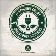 Alternative eco friendly energy stamp Stock Illustration