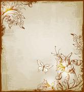 Vintage decorative  background Stock Illustration