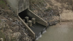 River Drainage Outlet Stock Footage
