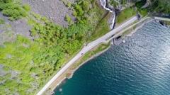 Aerial footage road in Norway. Beautiful Nature Norway Stock Footage