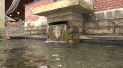 Park Fountain Closeup - Little Rock, Arkansas Riverfront - stock footage