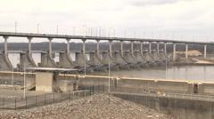 Little Rock, Arkansas - Big Dam Bridge Stock Footage