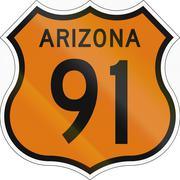 Historic Arizona Highway Route shield from 1958 used in the US Stock Illustration