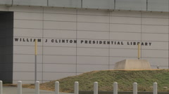 LITTLE ROCK, ARKANSAS William J Clinton Presidential Library - stock footage