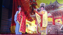Stage performance activities, temple ceremonies Stock Footage