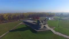 Majdanek Monument, Lublin. Aerial Footage. Stock Footage