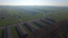 Majdanek concentration camp, Lublin, Poland . Aerial View 04 Stock Footage