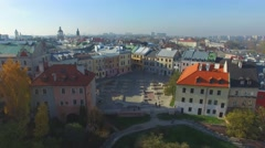 Lublin, Poland. Aerial View 09 Stock Footage