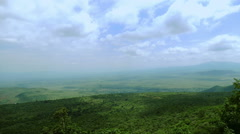 Savanna Panoramic View from mountain static camera. Background. Kenya. - stock footage