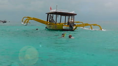 At the site of snorkeling,Gili Trawangan Stock Footage