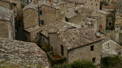 Beautiful medieval town in Tuscany, Sorano, Italy, EU, Europe. Stock Footage