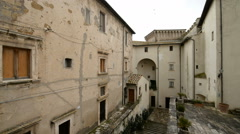 Palace in the centre of the etruscan city Pitigliano, Tuscany, Italy. Stock Footage