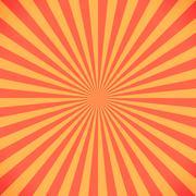Red and yellow sunburst pattern background Stock Illustration