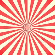 White and red sunburst pattern background - stock illustration