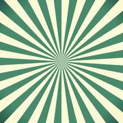 White and green sunburst pattern background Stock Illustration