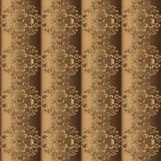 Seamless pattern on silk Stock Illustration