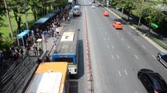 Traffic on the road Bangkok Stock Footage