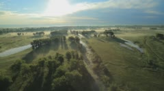 Morning mist in the sun. Stock Footage