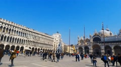 Pan left Time lapse of Saint Mark's square in Venice, Italy. Stock Footage