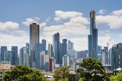 Melbourne skyline in daytime - stock photo