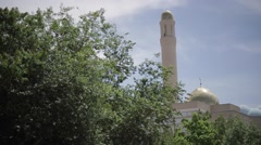 Domes of the mosque against the blue sky - stock footage