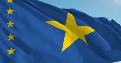 Beautiful looping flag blowing in wind: Congo Kinshasa Stock Footage
