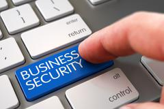 Stock Illustration of Hand Finger Press Business Security Key