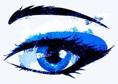 Abstract woman eye - stock illustration