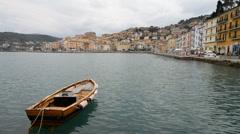Porto Santo Stefano on the Monte Argentario Island, Tuscany, Italy Stock Footage