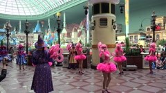'Happy Halloween Party' day parade in the Lotte World Adventure theme park Stock Footage