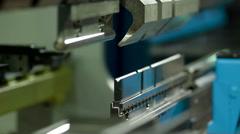 Metal cutter machine - stock footage