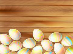 Stock Illustration of Painted Easter eggs. EPS 10