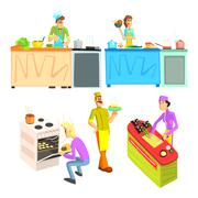 Cooking Illustrations Collection Stock Illustration