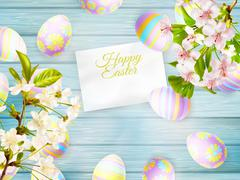 Happy easter Greeting Card. EPS 10 Stock Illustration