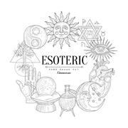 Esoteric Collection Vintage Sketch Stock Illustration