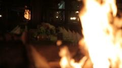 Beautiful fireplace - stock footage