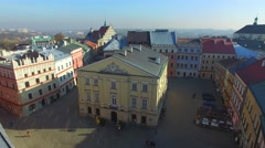 Lublin, Old Town Hall,Poland. //Aerial View// Stock Footage