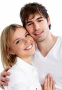 Young smiling couple. - stock photo