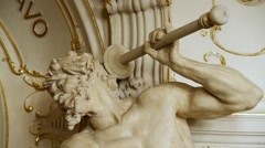 Sculpture statue inside historical Karlovy Vary Theater  Stock Footage