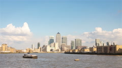 Time lapse: London Docklands and the River Thames - stock footage