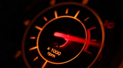 Abstruct Motorcycle Tachometer acceleration - stock footage