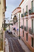 Lantern in Alfama district in Lisbon, Portugal Stock Photos