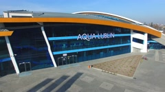 AQUA LUBLIN, Aerial View. 06 Stock Footage