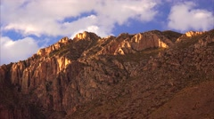 Clouds Over The Peaks at Guadalupe Mountains National Park - Time Lapse - stock footage