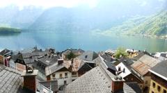 Picturesque panorama of Hallstatt Stock Footage